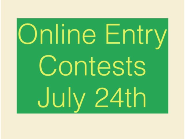 Online Entry Contests July 24th