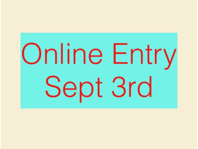 Online Entry Sept 3rd