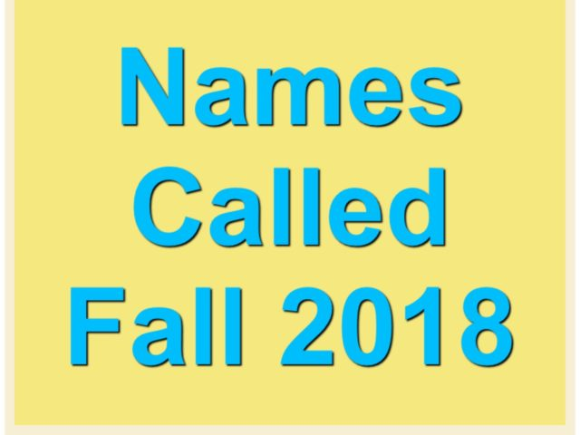 Protected: Names Called Fall 2018