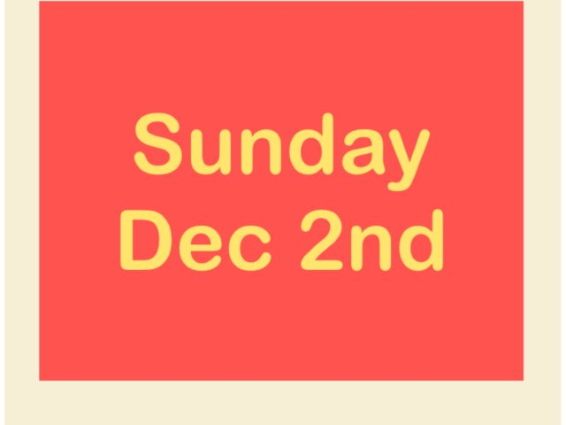 Protected: Sunday Dec 2nd
